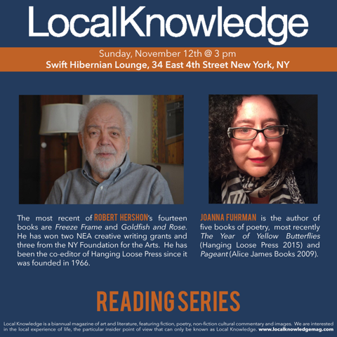 Local Knowledge reading series ad